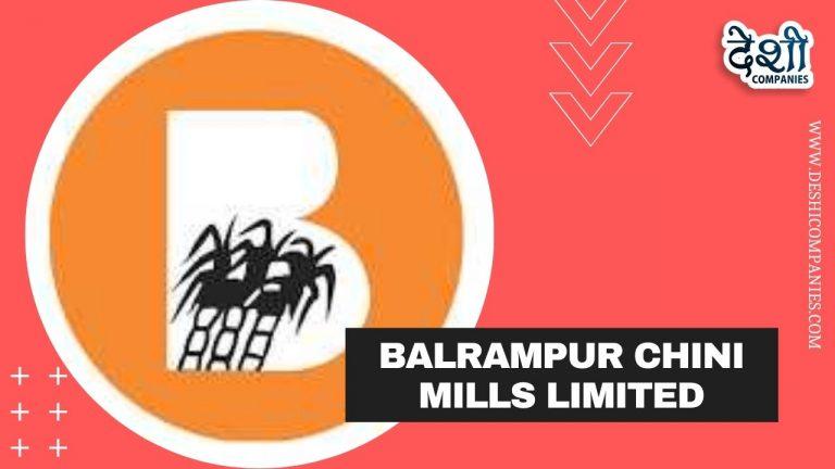 Balrampur Chini Mills Limited